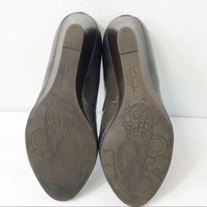 Clarks Shoes - Clarks Brielle Chanel Wedge Pebble Taupe Size 9